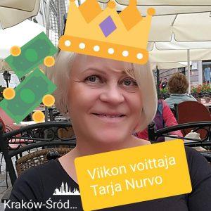 Viikon voittaja Tarja Nurvo