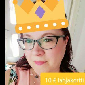 10 € Lahjakortin voittaja Sanna B. Lokakuu 2018