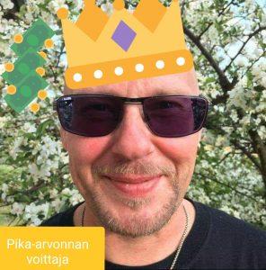 Pika arvonnan voittaja Mikko Tapio K
