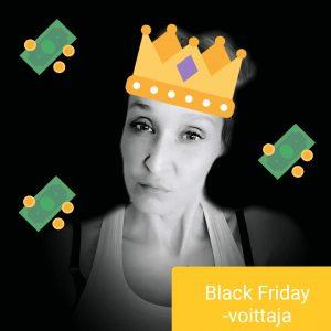 black friday voittaja heidi p