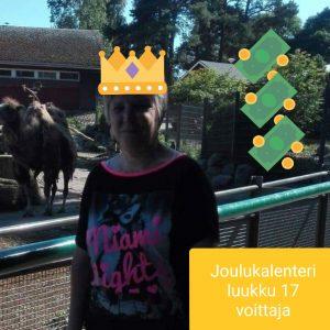 Joulukalenteri luukku 17 voittaja Jaana H.