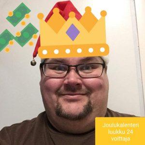 Joulukalenteri luukku 24 voittaja Simo V