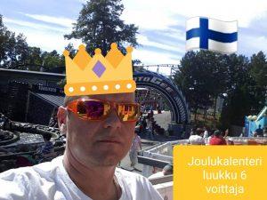 joulukalenteri luukku 6 voittaja Jukka H.