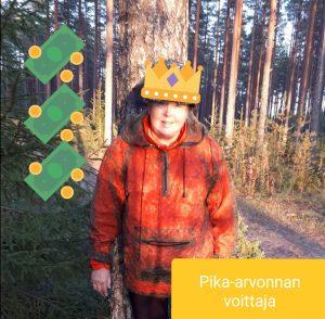 Pika-arvonnan voittaja Eija T.