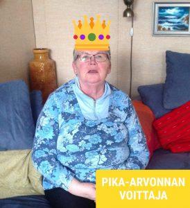 pika-arvonnan voittaja Ulla H