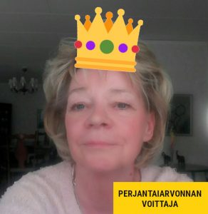 perjantaiarvonnan voittaja Ann Kristin P